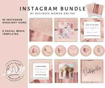 highlight icons rose glitter aesthetic mail templates font bio change