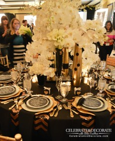 Dinner Rose Gold And Black Party Decorations Novocom Top