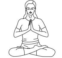 yoga meditation outline pose clipart health posture clip transparent results bend graphics classroomclipart classroom backbend
