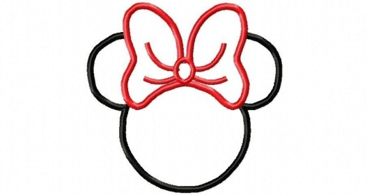 mouse minnie outline face head mickey clipart coloring template drawing ears clip pages disney bow silhouette cliparts draw outstanding stunning
