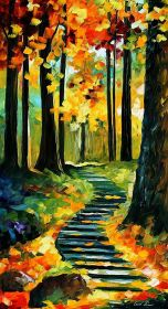 canvas painting easy beginners diy fun mart craft decoration cool things oil projects decor forest super
