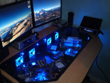 Gaming Pc Built In Table Novocom Top
