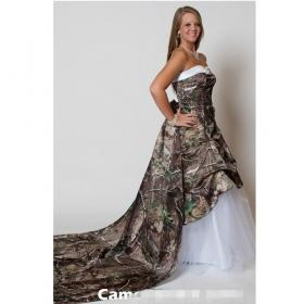 camo camouflage lace gown line dresses train bridal sweetheart court gowns weddings