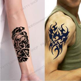 tattoo fake tattoos shoulder machine arm paste waterproof shipping totems suits male