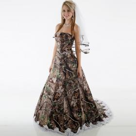 camo dresses country strapless camouflage gowns bridal robe appliques train backless elegant brush sweep modest bridesmaid lace dhgate weddings ball