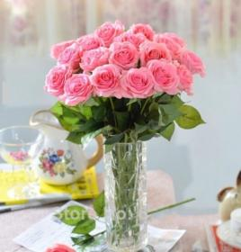 flower rose decoration roses arrangements flowers floral wedding pink artificial touch latex ivory party 30pcs garden