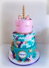 Mermaid Birthday Cakes Mycakesweetdreams Unicorn Mermaid