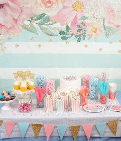 reveal gender party table decorations dessert most unique cake important pink decoration games guests popular popcorn cool sweet banners