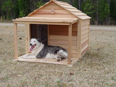 dog houses outdoor custom dogs porch deck plans pet ways outdoors breed insulated breeds wood ac cedar making insulation heat