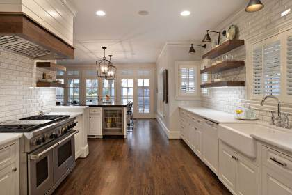 kitchen farmhouse remodel park university modern touch rustic renovations outcome homeowner desired sink