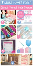 reveal gender baby shower party decorations idea supplies catchmyparty themes showers printables diy gifts babyshower parties games cute food pink