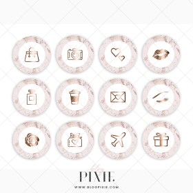 instagram marble pink rose gold highlight icons covers logos email fonts kits arrivals styling themes branding blogger creative