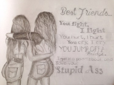 friend friends drawing friendship sketches sketch drawings bff easy cute pencil draw bestfriend coloring getdrawings bffs pages boy besties quotes