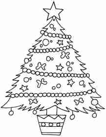 christmas tree easy drawing coloring pages getdrawings