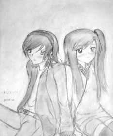 pencil anime drawing boy couple holding hands sad couples sitting cartoon sketches kiss drawings coloring sketch pages realistic getdrawings hand