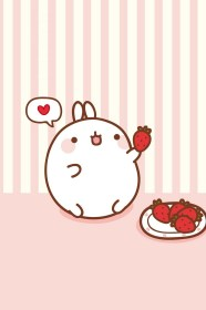 kawaii cute iphone wallpapers super molang android