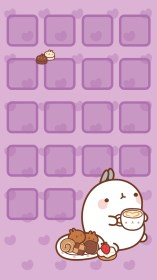 kawaii iphone wallpapers cute purple background cool screen wiki adorable backgrounds phone molang para halloween 귀여운 organizar girly zone results