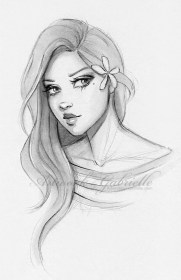 drawing drawings sketch sketches faces face pencil deviantart easy marker draw gabbyd70 google hair flower illustration head female vinci curly