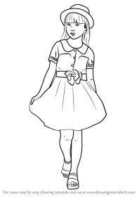Learn How to Draw a Beautiful Young Girl (Girls) Step by