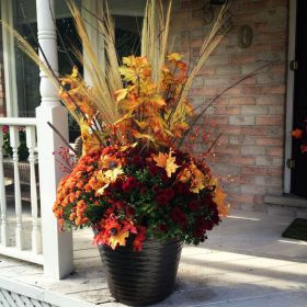 Dressing your Fall Planters DRESSED TO A T