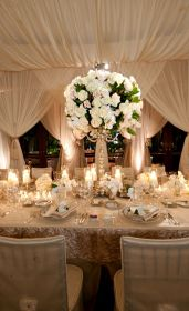 rosas reception mesa drapery boda mesas elegant centro decorar novios rose decoracion centerpieces matrimonio ceiling decorations stun guests ivory bodas