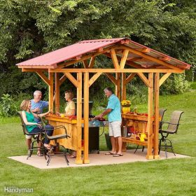 diy gazebo backyard outdoor grill projects oasis awesome father outside entertaining familyhandyman create plans dad spaces build patio space grillzebo