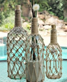 glass bottle crafts amazingly simply perfect bottles rope homesthetics via wrapped