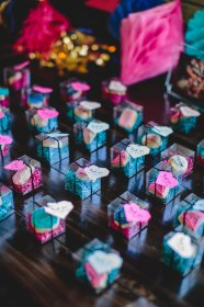 reveal gender baby party shower geometric gifts karaspartyideas decorations kara diy decor parties theme cute favors