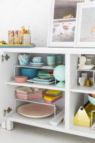 small kitchen storage double shelves 1536346995