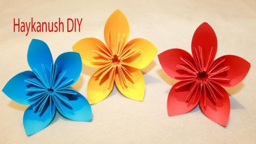 origami flowers flores papel hacer como faciles easy beginners