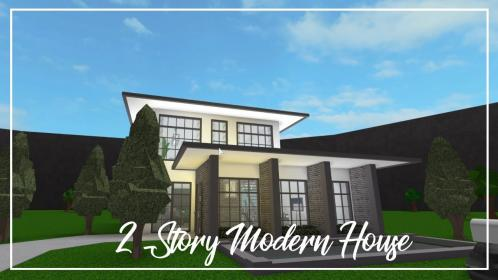 bloxburg story modern roblox aesthetic welcome houses gamingwithv mansions cuitan dokter wikia