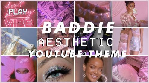 baddie aesthetic banner channel template templates intro theme outro
