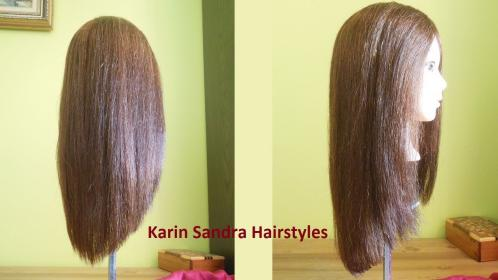 haircut long shaped layers without
