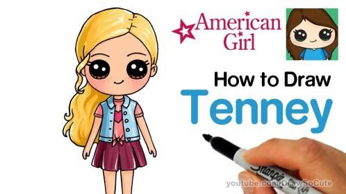 How to Draw Tenney Easy American Girl Doll YouTube