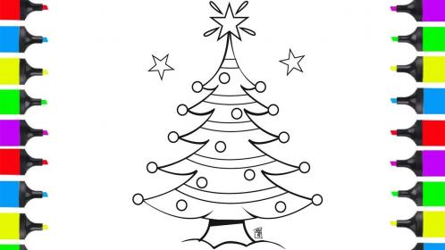 christmas drawing children draw tree stuff drawings coloring christma getdrawings paintingvalley