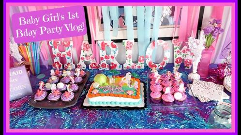 birthday baby party 1st theme mermaid chanelle