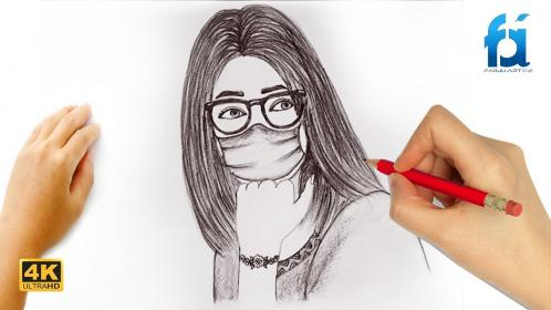 mask easy draw wear sketch covid way prevent stay