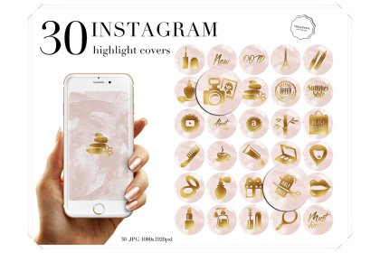highlight blush watercolor instagram pink story covers cart