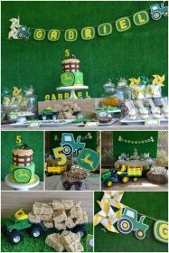 birthday party tractor boy deere john parties 1st baby farm boys theme themes cake cakes table shower decorations themed 3rd