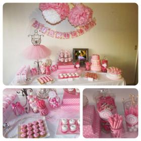birthday baby 1st ballerina theme party themes parties fairy pink princess birthdays discover