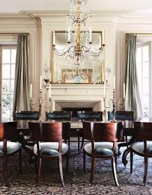 dining formal rooms dream elegant mirror wall traditional fireplace table