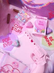 aesthetic pink pastel kawaii kidcore goth stuff wallpapers pinky colors mabel searching pines futuristic heart nails