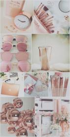 collage girly iphone gold rose wallpapers aesthetic backgrounds background makeup cool livewallpaperhd pink pastel quotes pretty resolution christmas screen lock