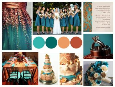 teal fall copper colors gold palette dark cream silver bronze autumn weddings themes turquoise champagne simple tables inspiration table rose
