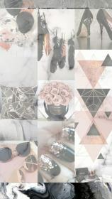 WALLPAPERS Rose gold collage Rose gold wallpaper iphone