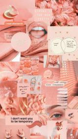 aesthetic collage pink wall paper makeup