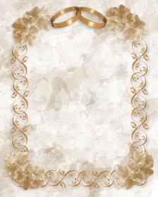 Wedding Invitation Gold Rings Floral Photo about flower