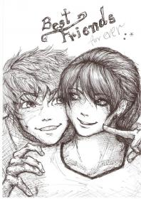 friends drawings ever forever boy draw sketches anime drawing friend sketch deviantart bff pencil guy croquis sketching wallpapers cool