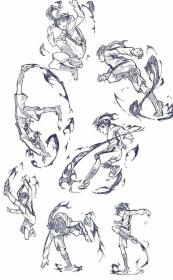 poses anime drawing action human fighting pose reference sketch figure sketches beginners manga character references draw figurine tips trendy gesture
