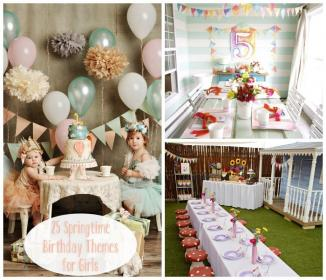 Vintage Summer / spring themed first birthday party